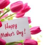 flowers with a Mother's Day card
