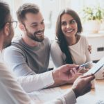 couple reviewing insurance with agent