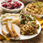 loaded Thanksgiving plate