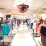retail store with security camera